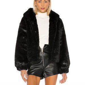 NWT LPA faux fur jacket
